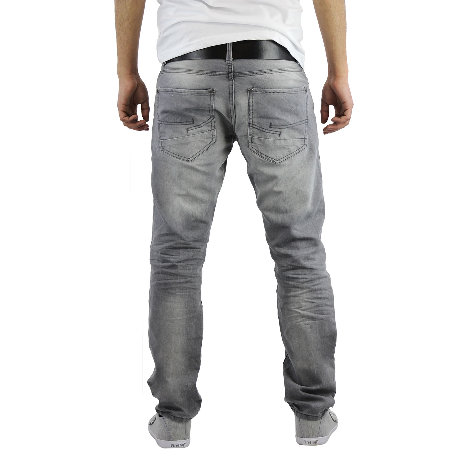 Hommes Wayne Lavage Ch Bleu Adapter Un Jean Slim Avec Ceinture Crosshatch ruRpkckq
