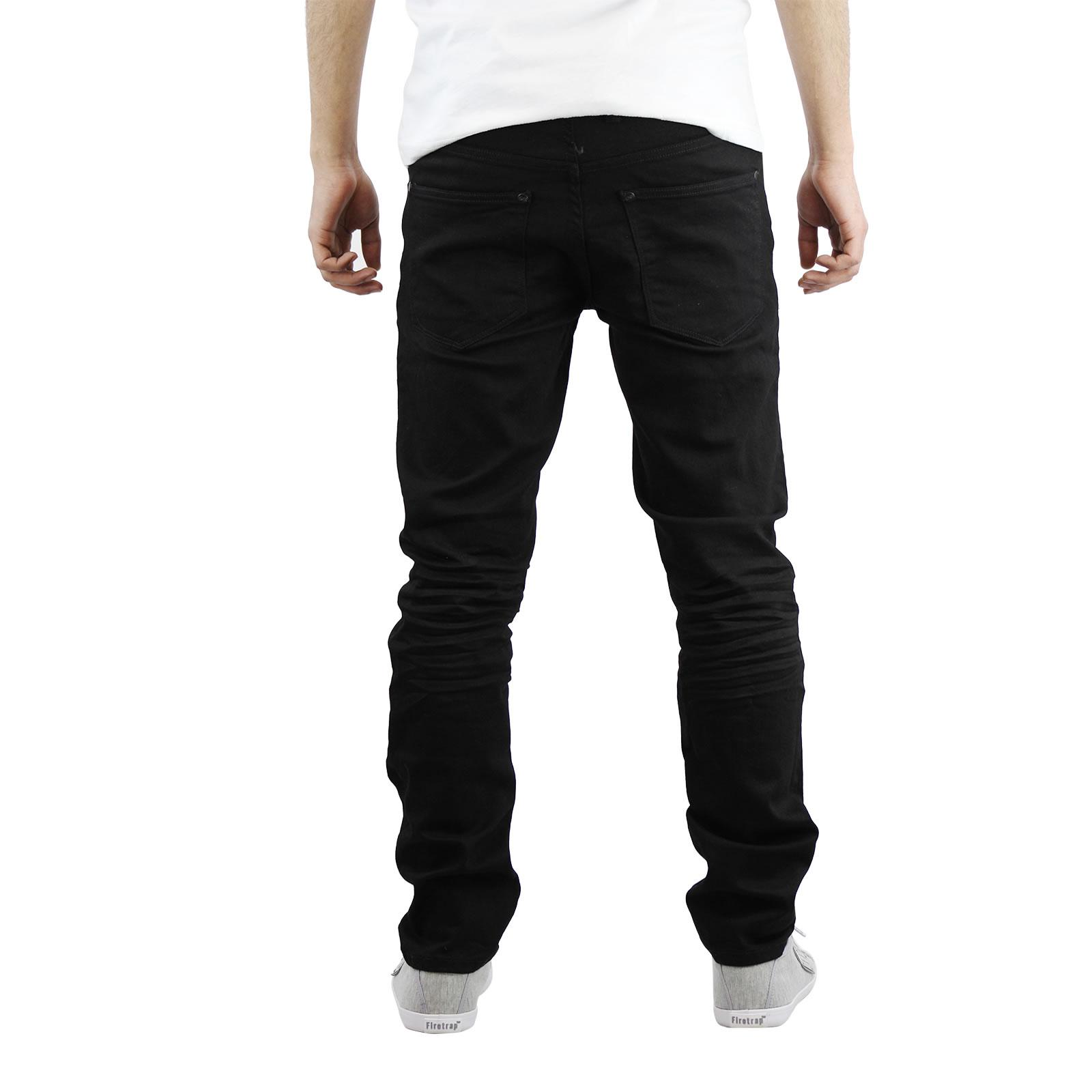 miniature 4 - Homme Crosshatch Jaco Slim Jeans stretch pantalon denim effet vieilli