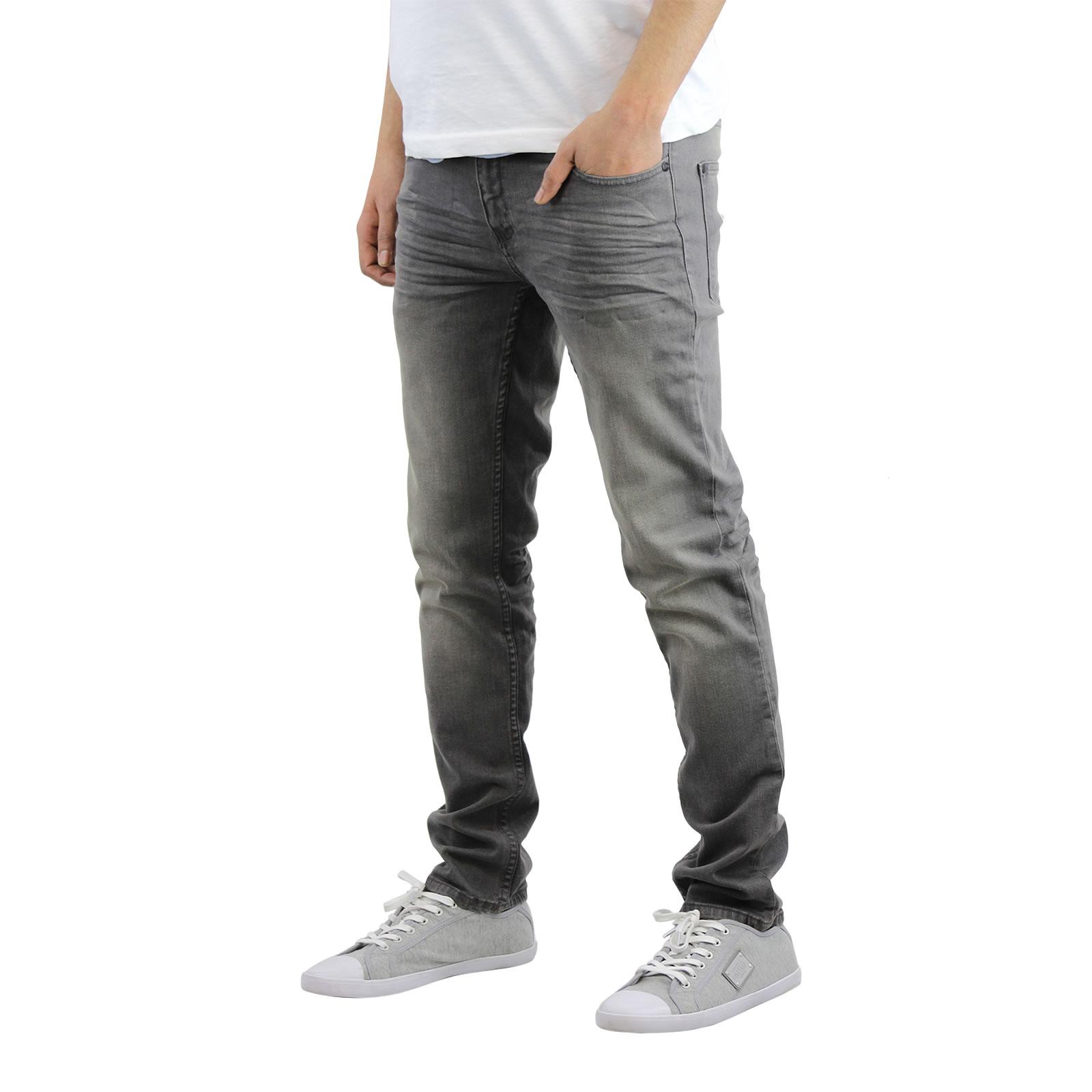 miniature 9 - Homme Crosshatch Jaco Slim Jeans stretch pantalon denim effet vieilli
