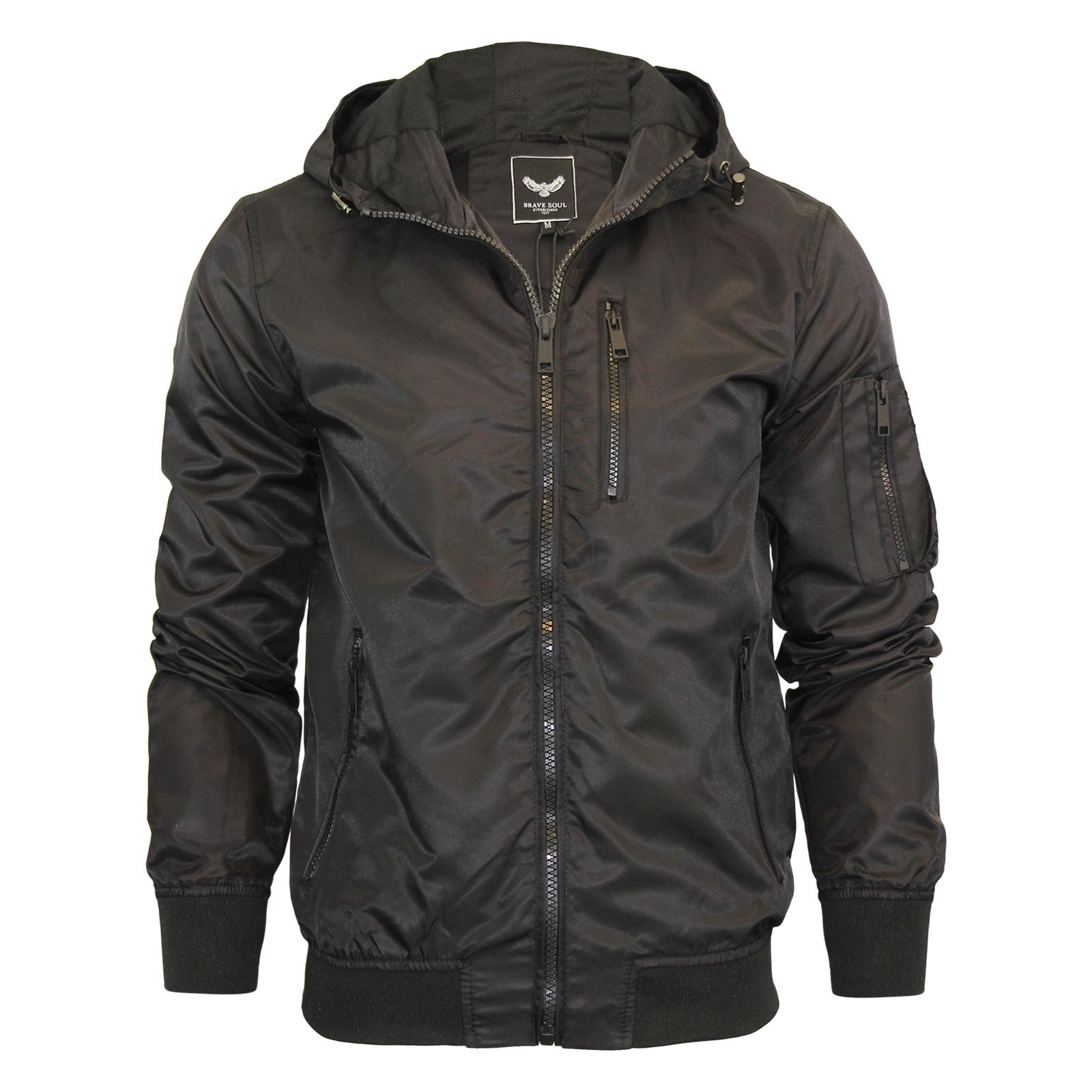mens hooded jacket brave soul slavic zip up ma1 summer. Black Bedroom Furniture Sets. Home Design Ideas