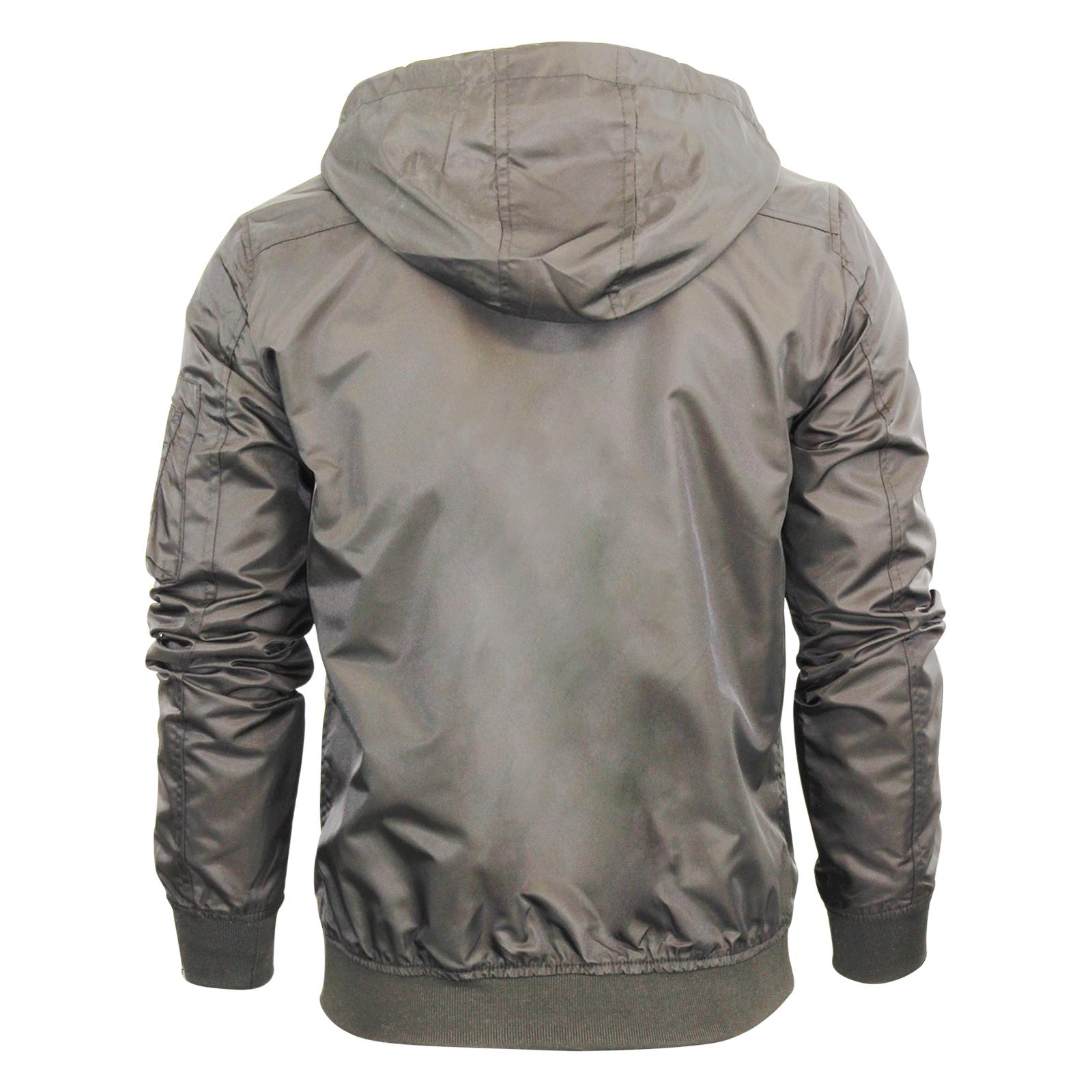 Mens Hooded Jacket Brave Soul Slavic Zip Up MA1 Summer Bomber Coat ...