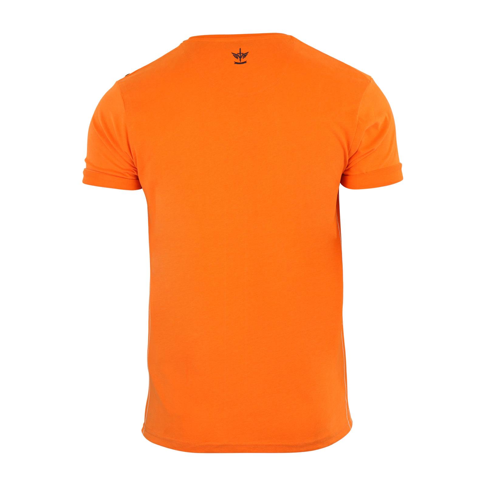 Mens T Shirt Firetrap Rusper Burnout Cotton Graphic Crew