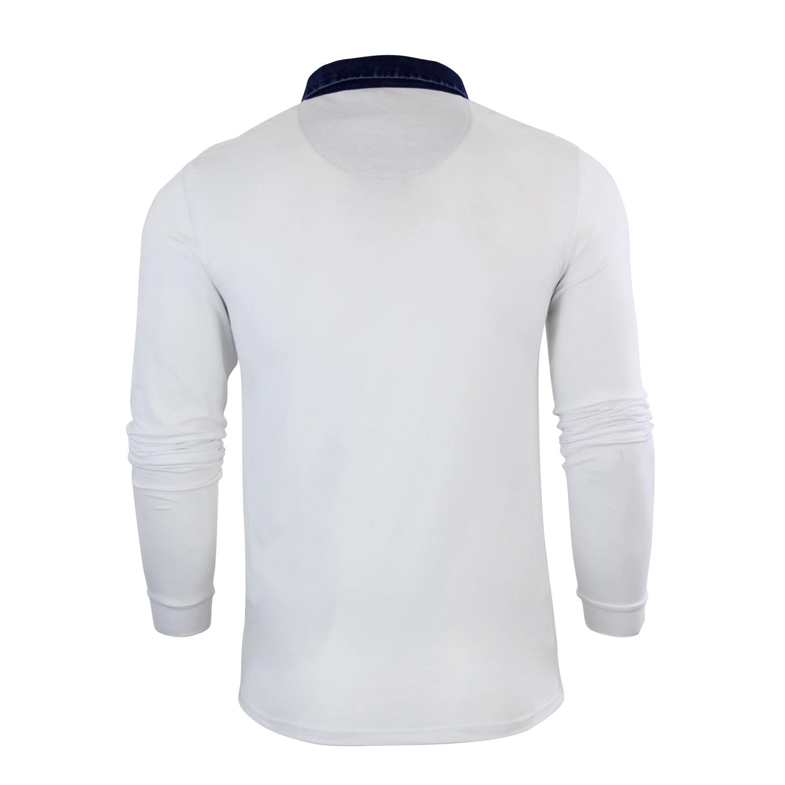 Mens-Polo-T-Shirt-Brave-Soul-Gospel-Denim-Collared-Long-Sleeve-Casual-Top thumbnail 9