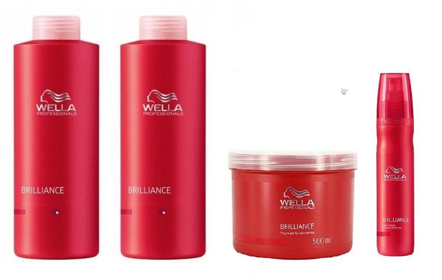 wella brilliance coarse shampoo 1000ml conditioner 1000ml. Black Bedroom Furniture Sets. Home Design Ideas