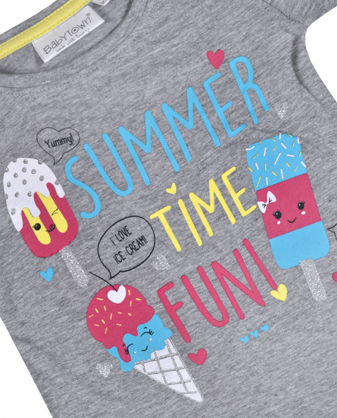 Baby Girls T-Shirt Unicorn Glitter Print Cotton Summer Tee Top Age 0-24 Months