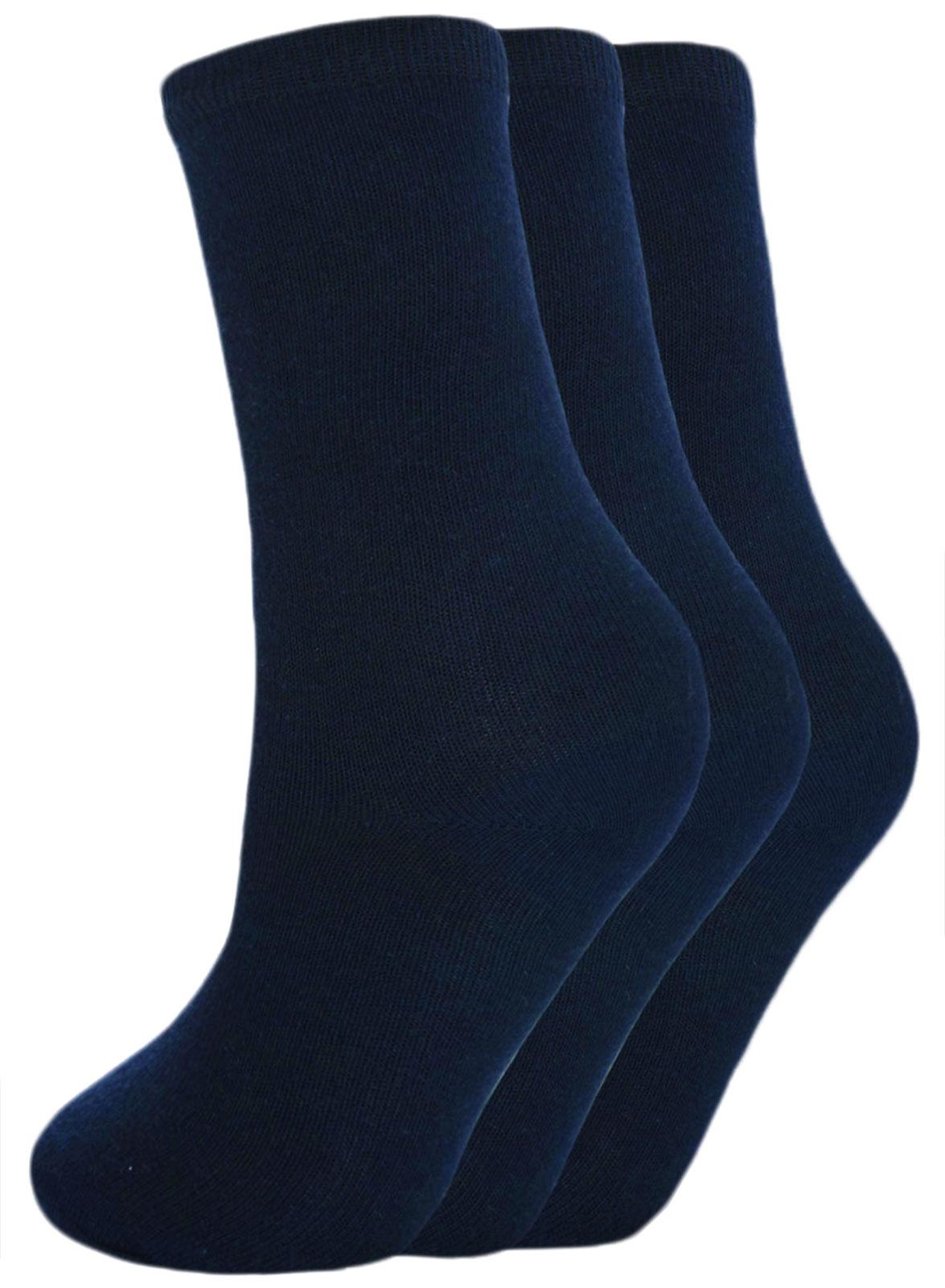 Boys Ankle Socks 3 Pairs Plain Cotton School Trainer Sport Socks Black Grey Navy