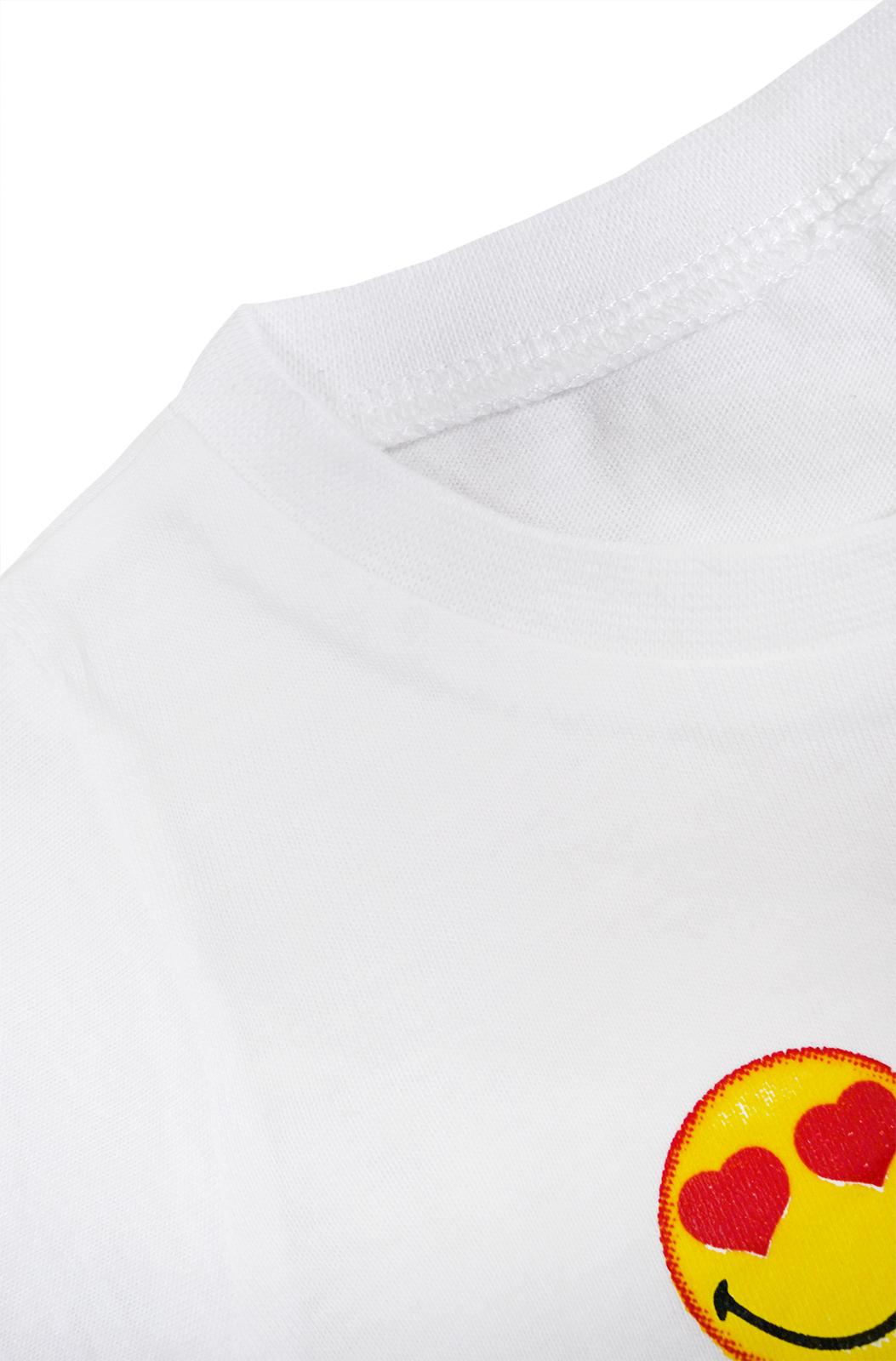 Baby Girls Emoji Top Kids Cotton T shirt New Smiley World Short Sleeve Newborn