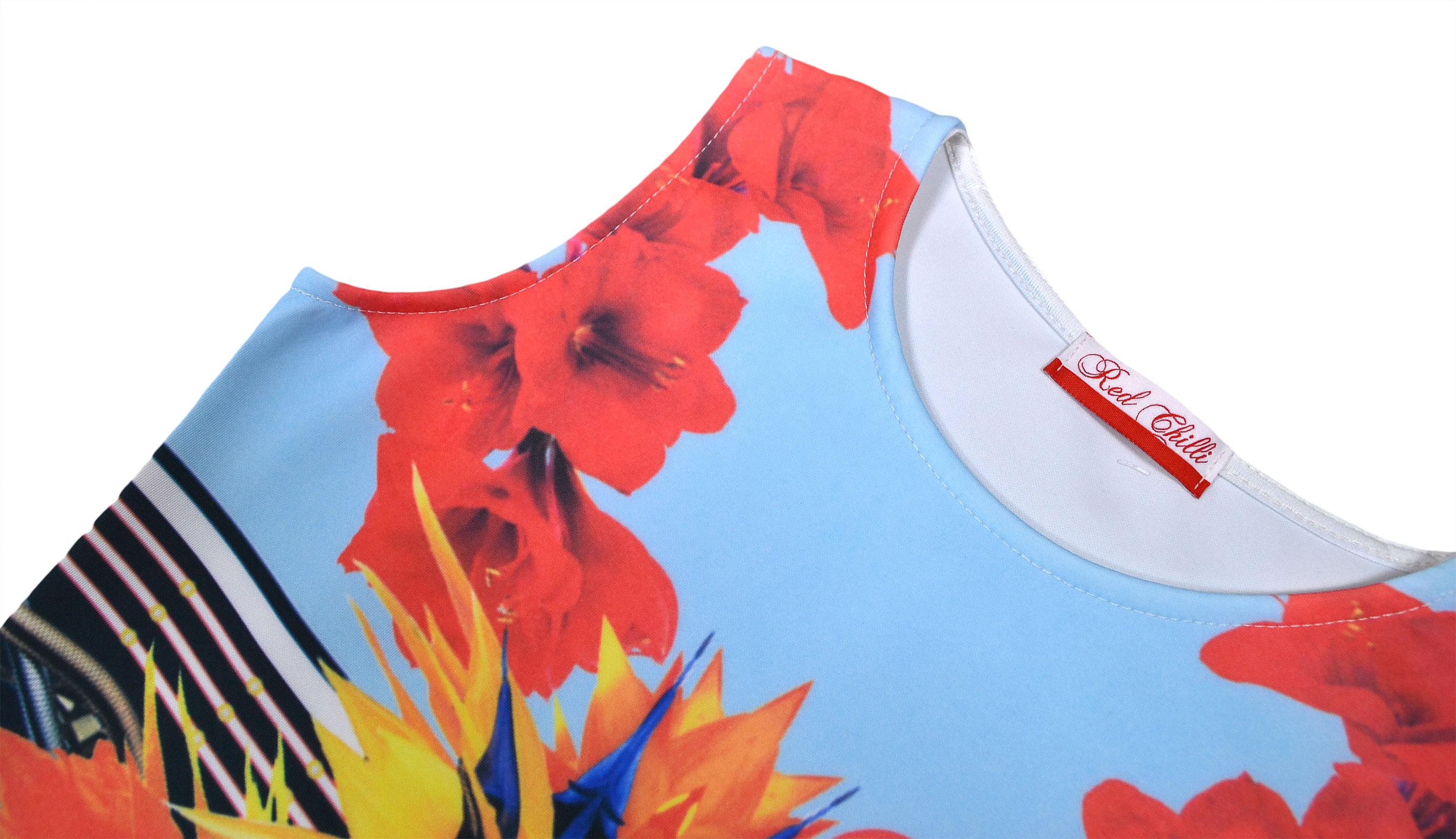 Ladies New Scuba Sleeveless Midi Womens Stretch Party Summer Holiday Sun Dress