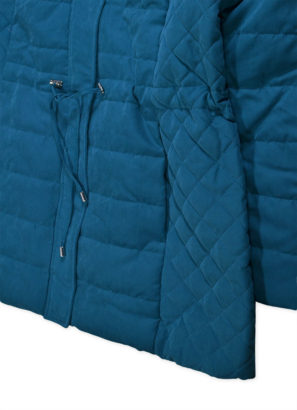Ladies Fur Trim Winter Hooded Coat New Womens Quilted Parka Jacket Size 12-20