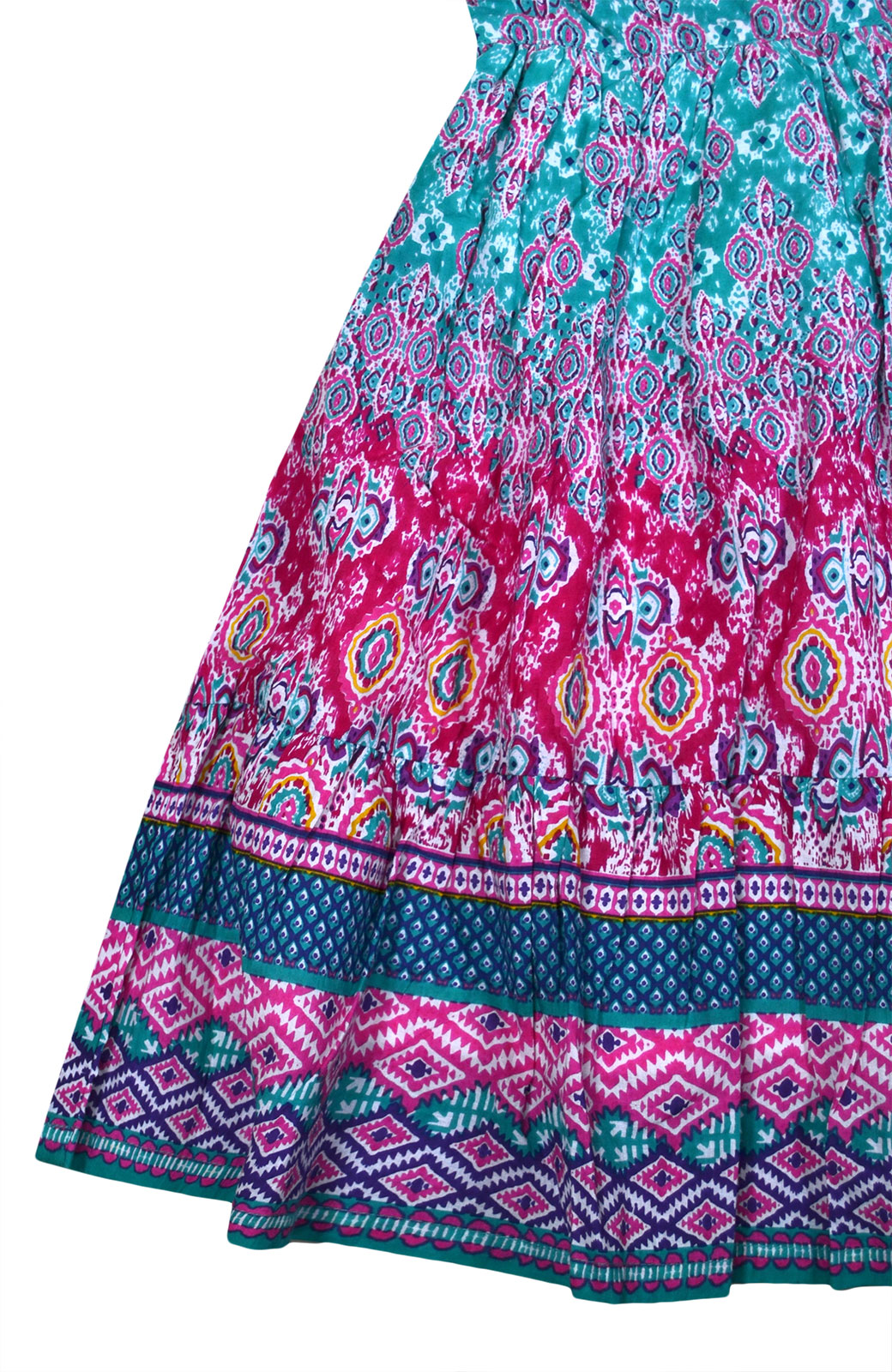 Girls Summer Dress Kids Aztec Gypsy Print Dresses Age 3 4 5 6 7 8 9 10 11 Years