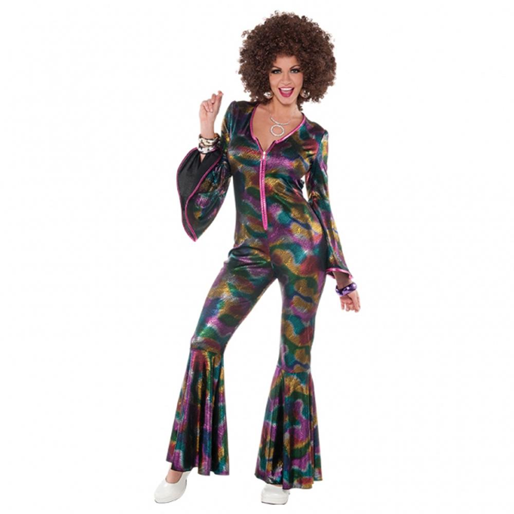 Costume jumpsuit w flares 70s dress up abba ladies costume ebay