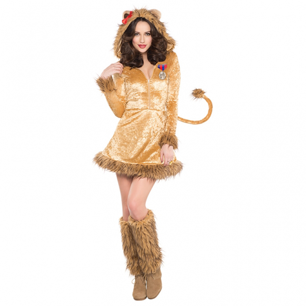 Ladies Fancy Dress Wild Lion Lioness - Wizard of Oz - Lion Costume ...