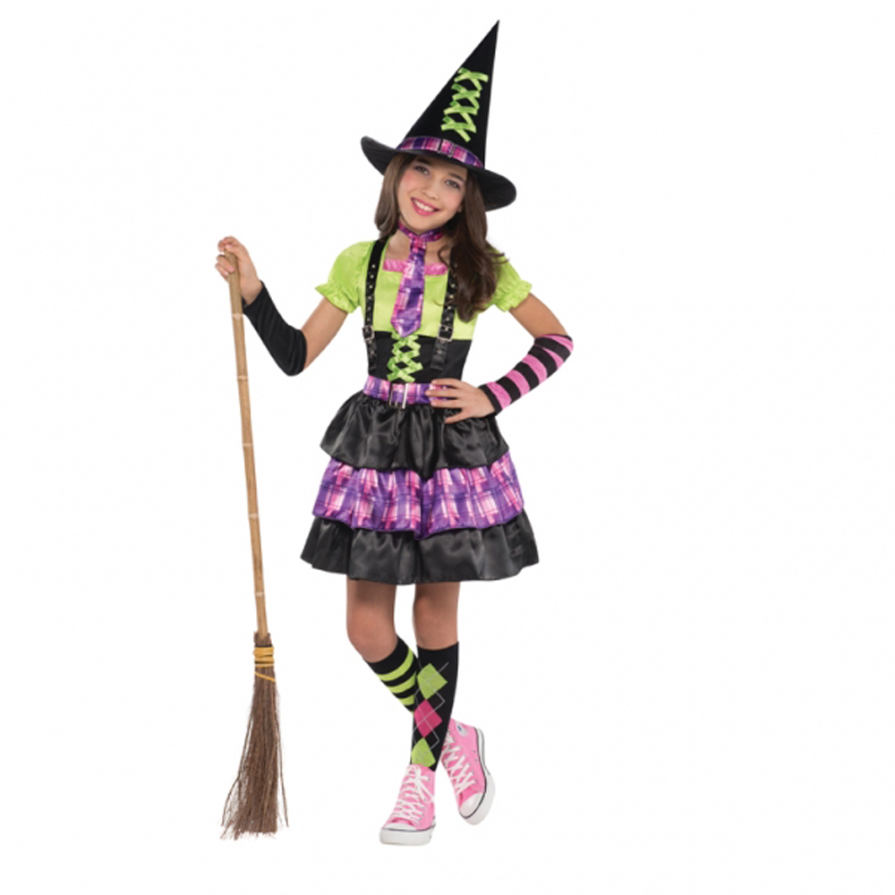 Girls Halloween Fancy Dress Costume - Spellbound Witch Compete ...