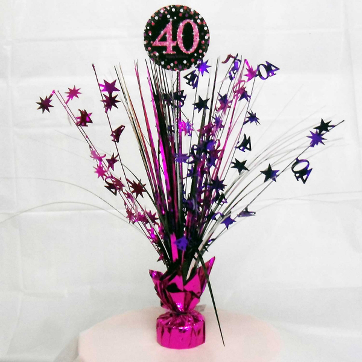 40th birthday spray centrepiece table decoration black for 40th birthday decoration