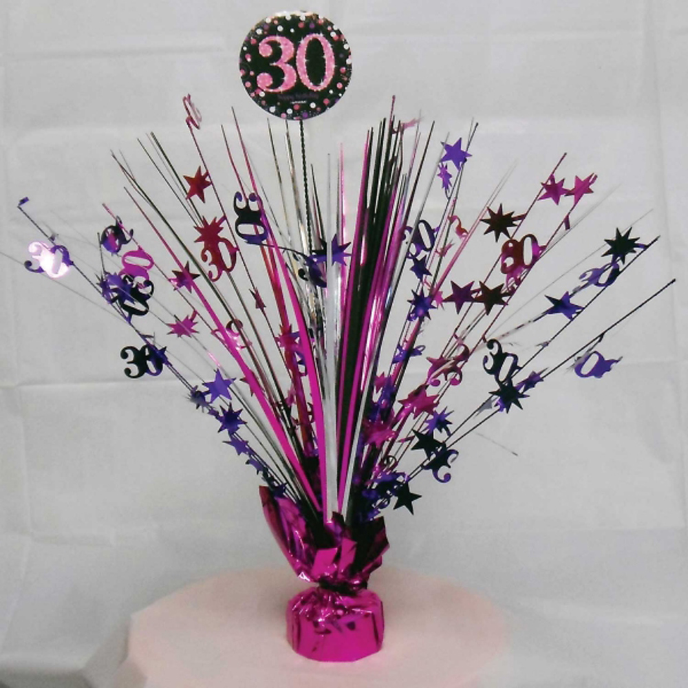 30th birthday spray centrepiece table decoration black for 30th birthday decoration