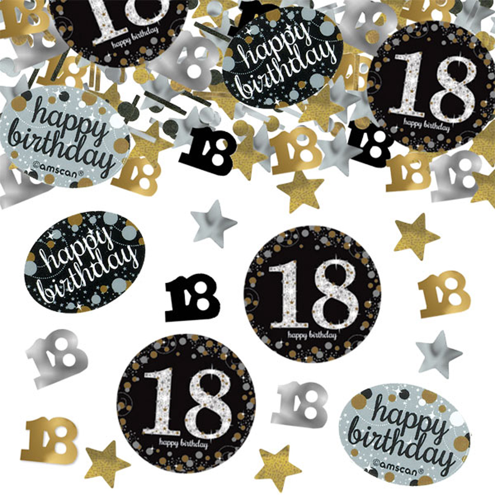 18th birthday confetti table decoration sprinkle black for 18 birthday decoration ideas