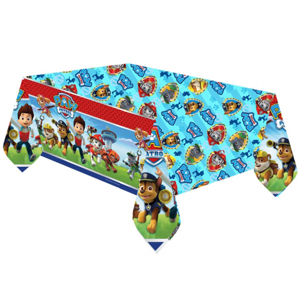 Paw patrol tablecover happy birthday party puppy pets - Cosas de la patrulla canina ...