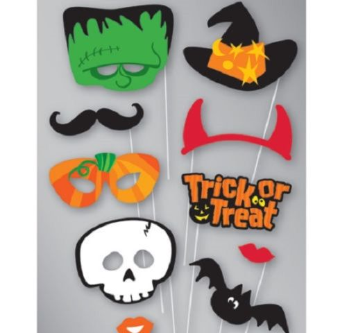 Photo booth face photo props party activity ideas trick or treat