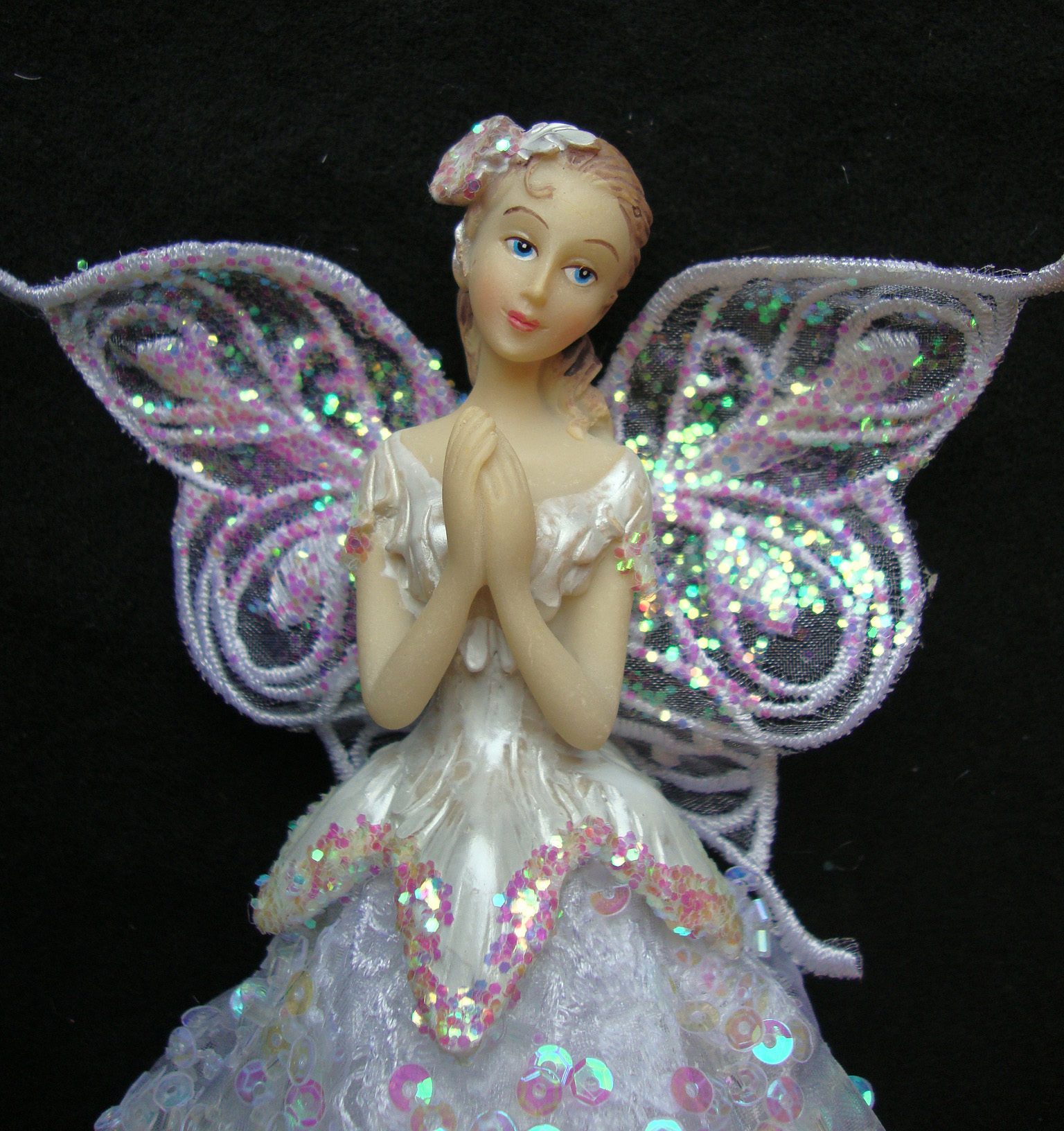 White Angel Fairy Christmas Tree Top Topper Decoration