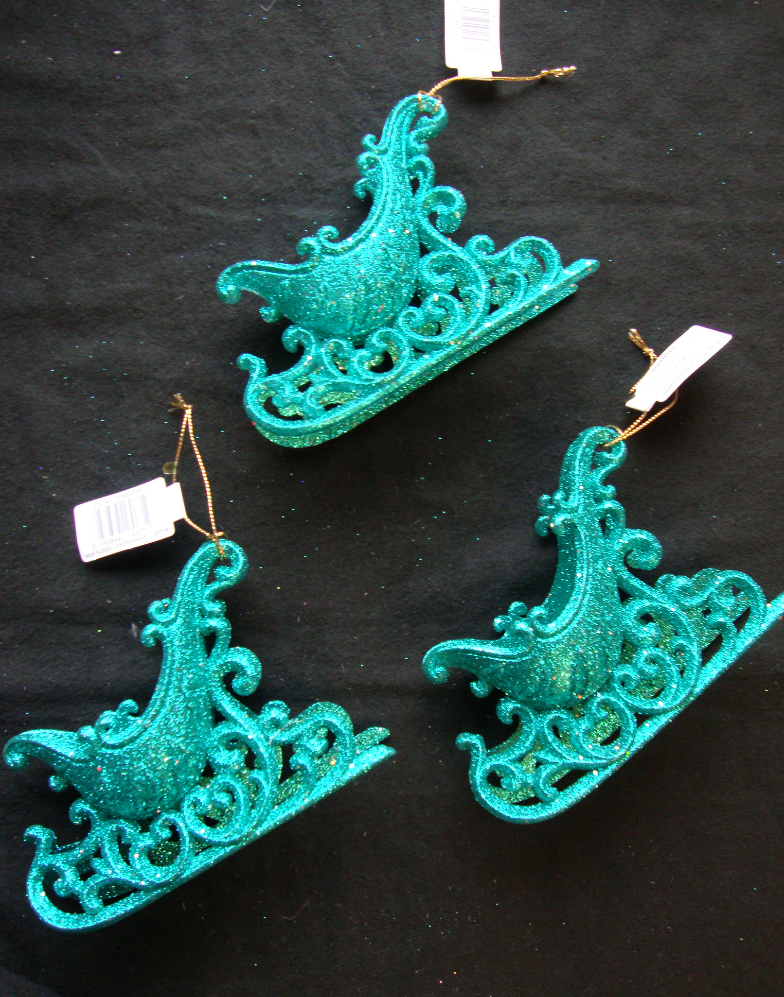 Turquoise d large sleigh christmas tree hanging