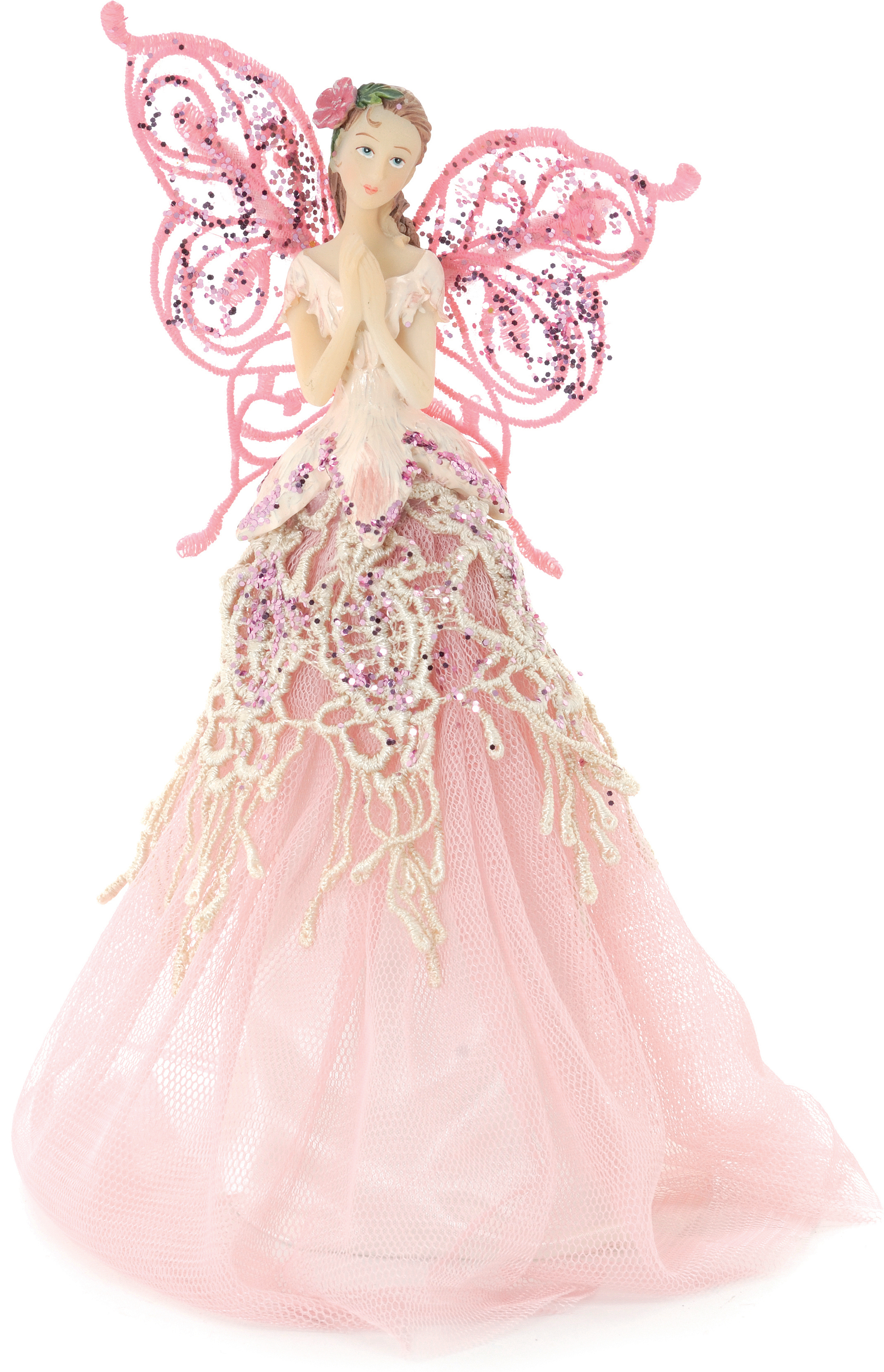 Pink Angel Fairy Christmas Tree Top Topper Decoration Vintage Style 23cm | EBay