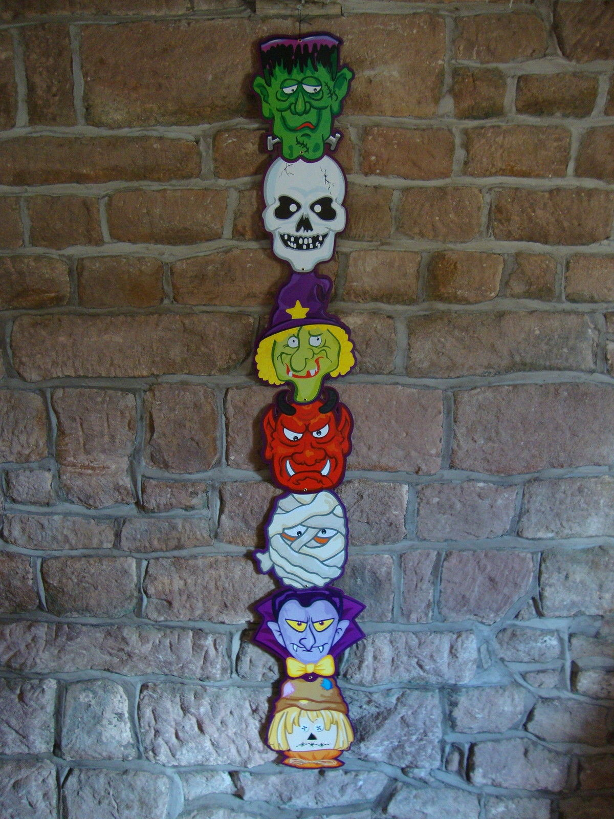 Halloween 5ft Jointed Totem Pole Banner Poster Cheap Halloween ...