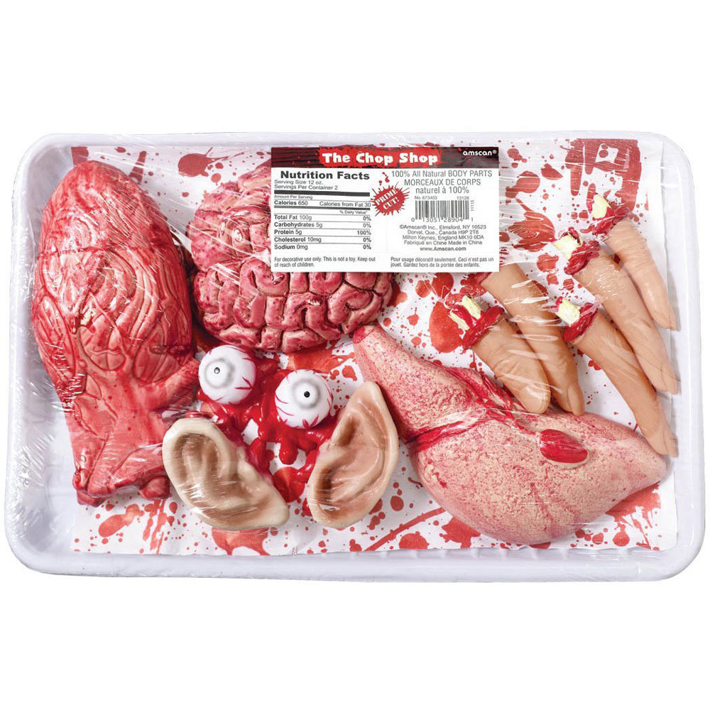Chop Shop Bloody Body parts Freezer Pack Halloween Party ...