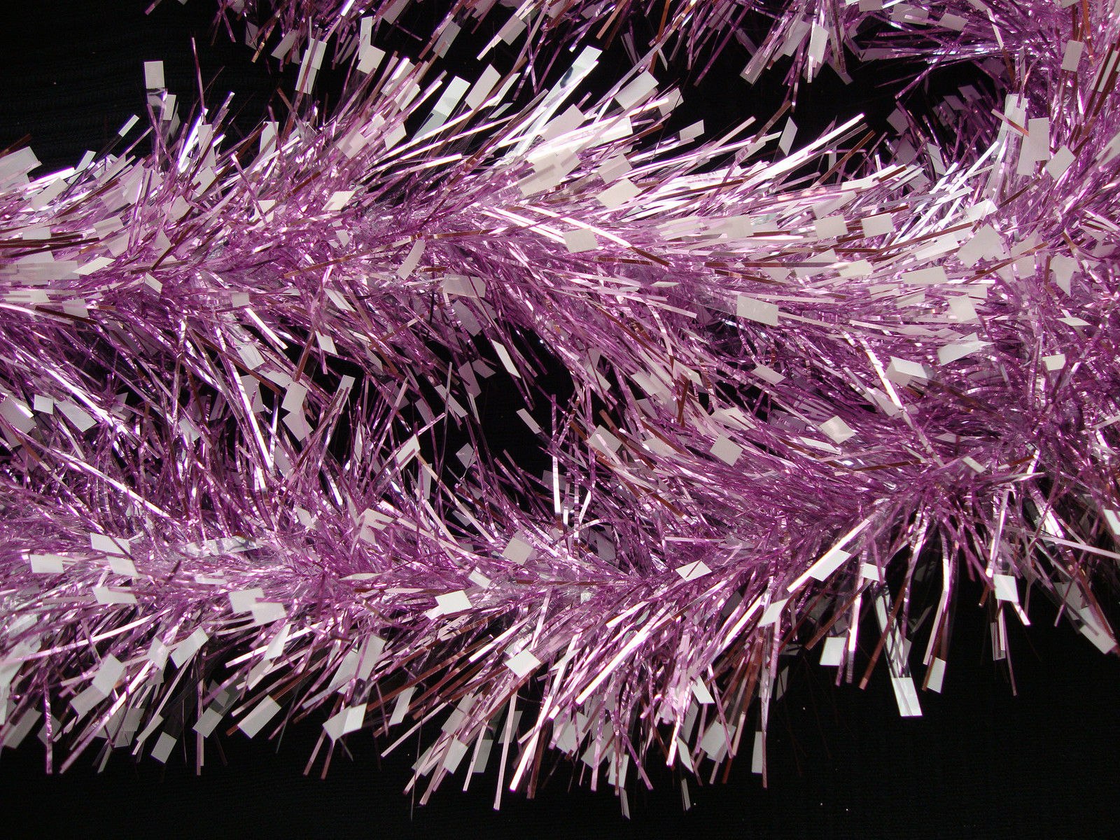 LUXURY Thick Pink Snowstorm Christmas Tinsel Garland Christmas Tree  Decoration