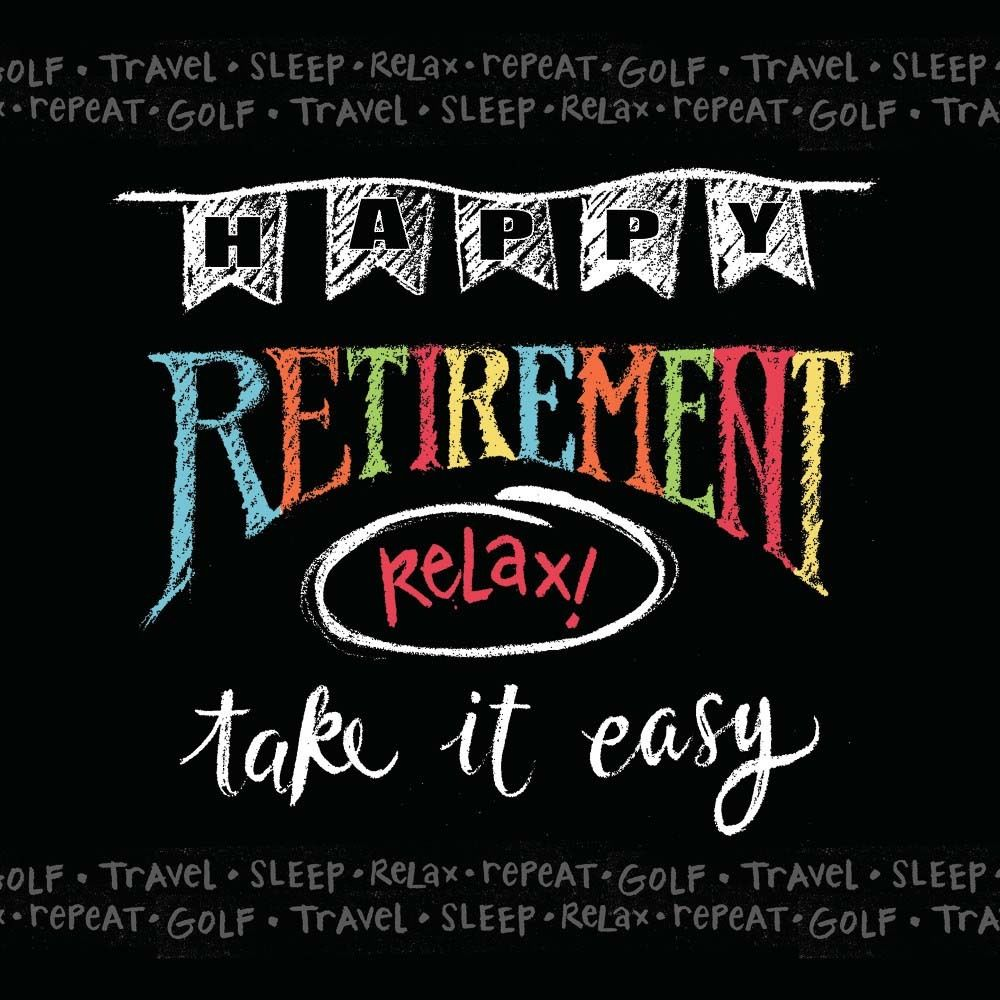 16 x Happy Retirement Party Napkins 'Relax take it easy ...