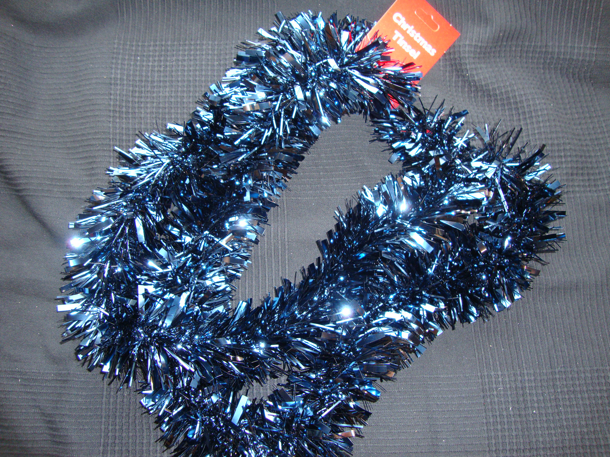Luxury thick midnight blue tinsel metre garland