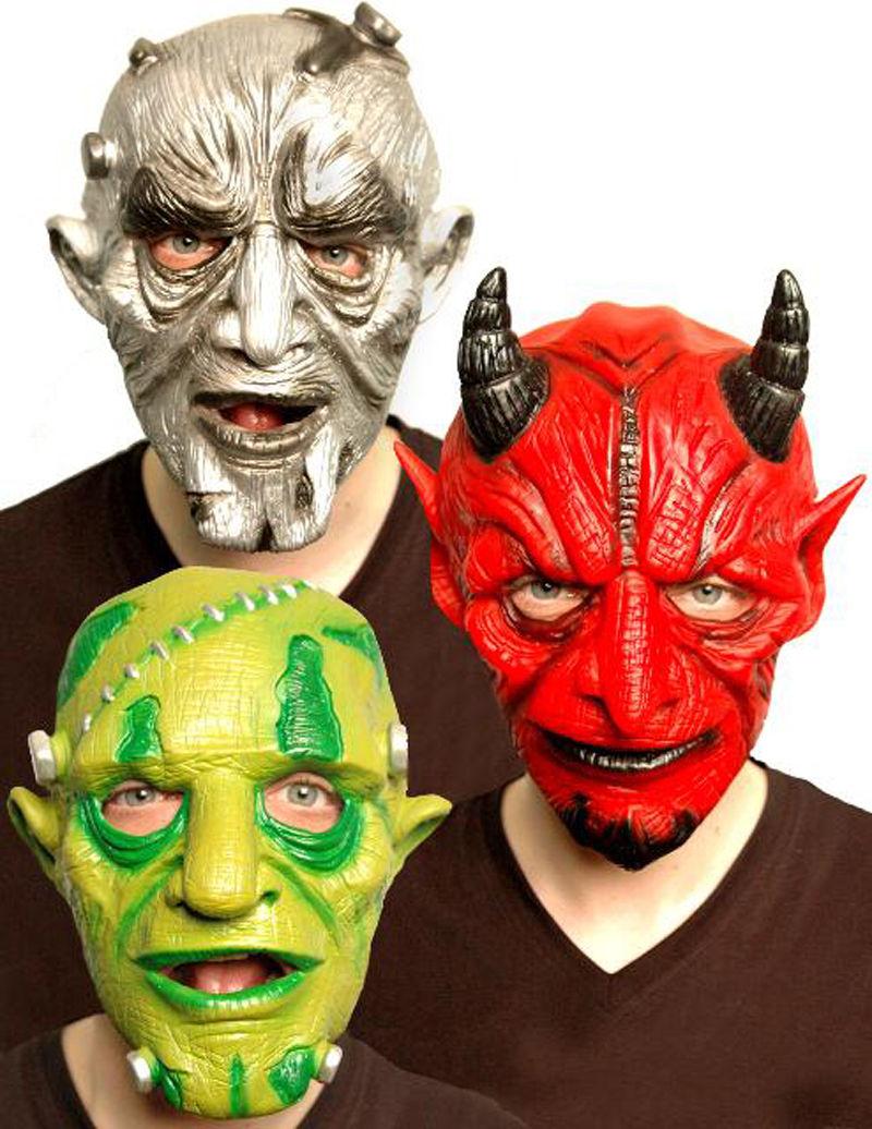 Halloween Scary Masks Latex Mask Red Devil Monster Alien Moving ...
