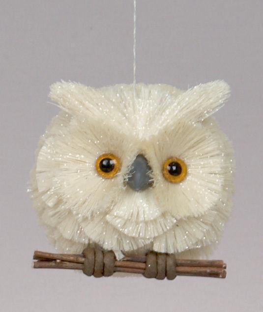 Christmas hanging rustic sisal owl ornament decoration for Sisal decoration