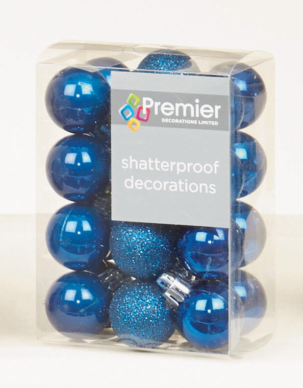 48 midnight blue shatterproof christmas tree baubles for Midnight blue centerpieces