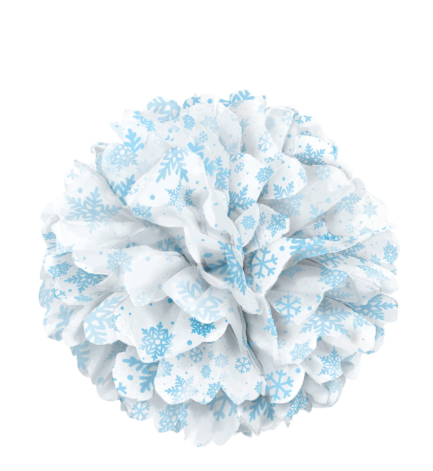 large snowflakes paper fluffy hanging decoration tissue