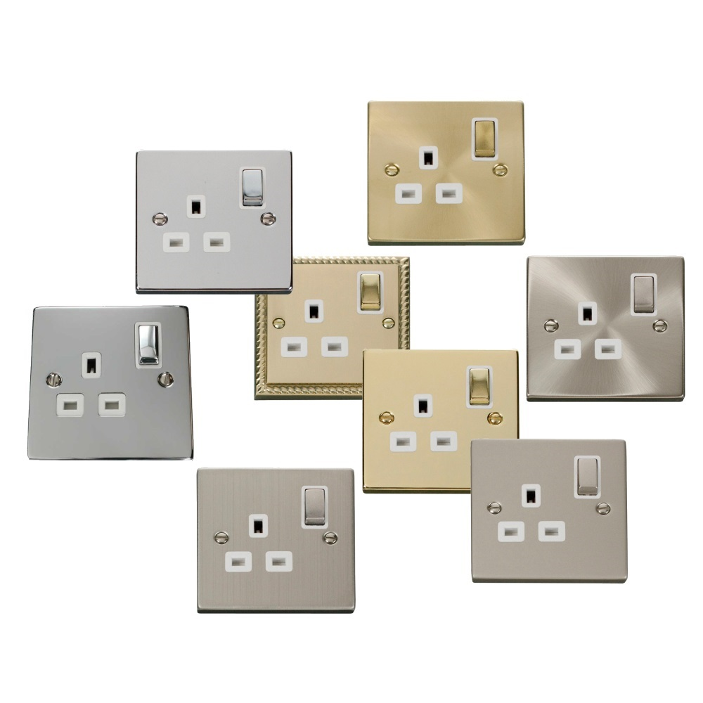 click deco 1 gang 13a dp ingot switched socket with white inserts ebay On deco gang wit
