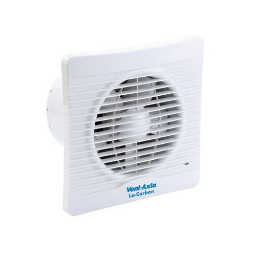 Vent Axia Lo Carbon Silhouette 125t Bathroom Extractor Fan With Timer Ebay