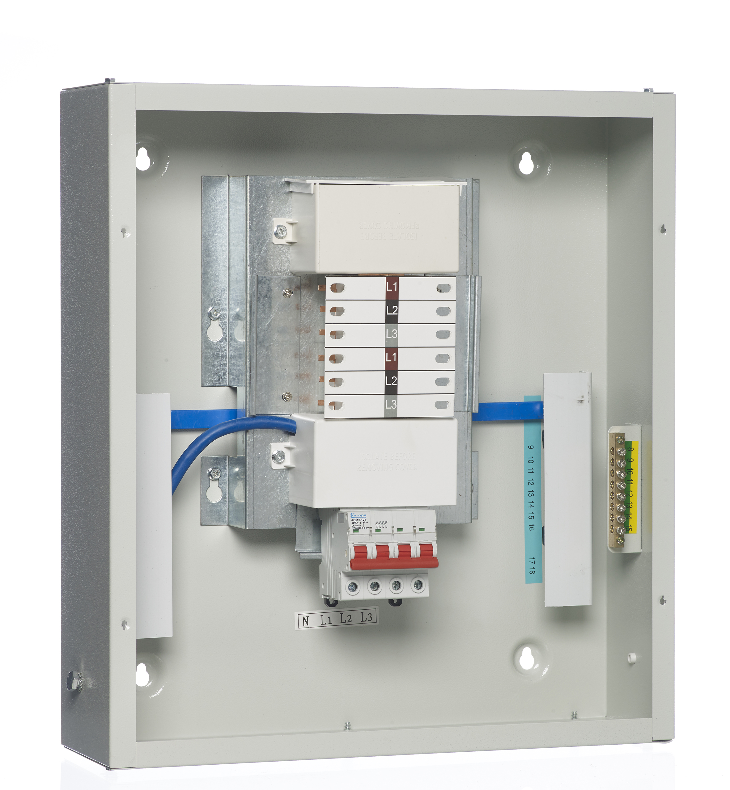 faze 3 fuse box handle europa tpn distribution boards    3    phase with 125a incomers  europa tpn distribution boards    3    phase with 125a incomers