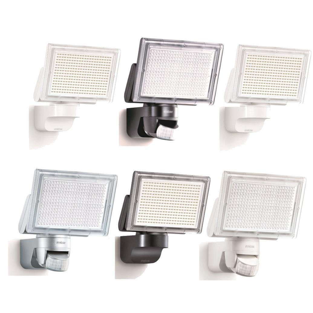 steinel xled home 3 led floodlight sensor option outdoor white black silver. Black Bedroom Furniture Sets. Home Design Ideas