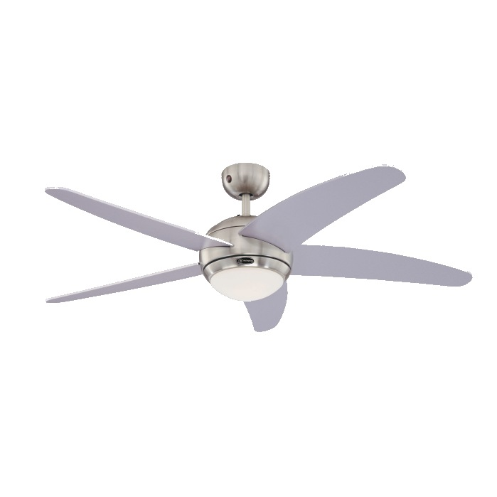 """High Resolution Quality Ceiling Fans 5 Chrome Ceiling Fan: Bendan 52"""" Westinghouse Silver Ceiling Fan With Light"""