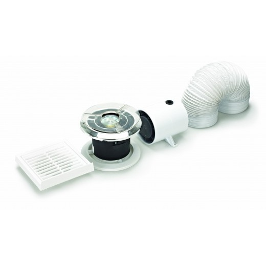Silavent spotvent 100 in line axial bathroom extractor fan for Zone 0 bathroom extractor fan