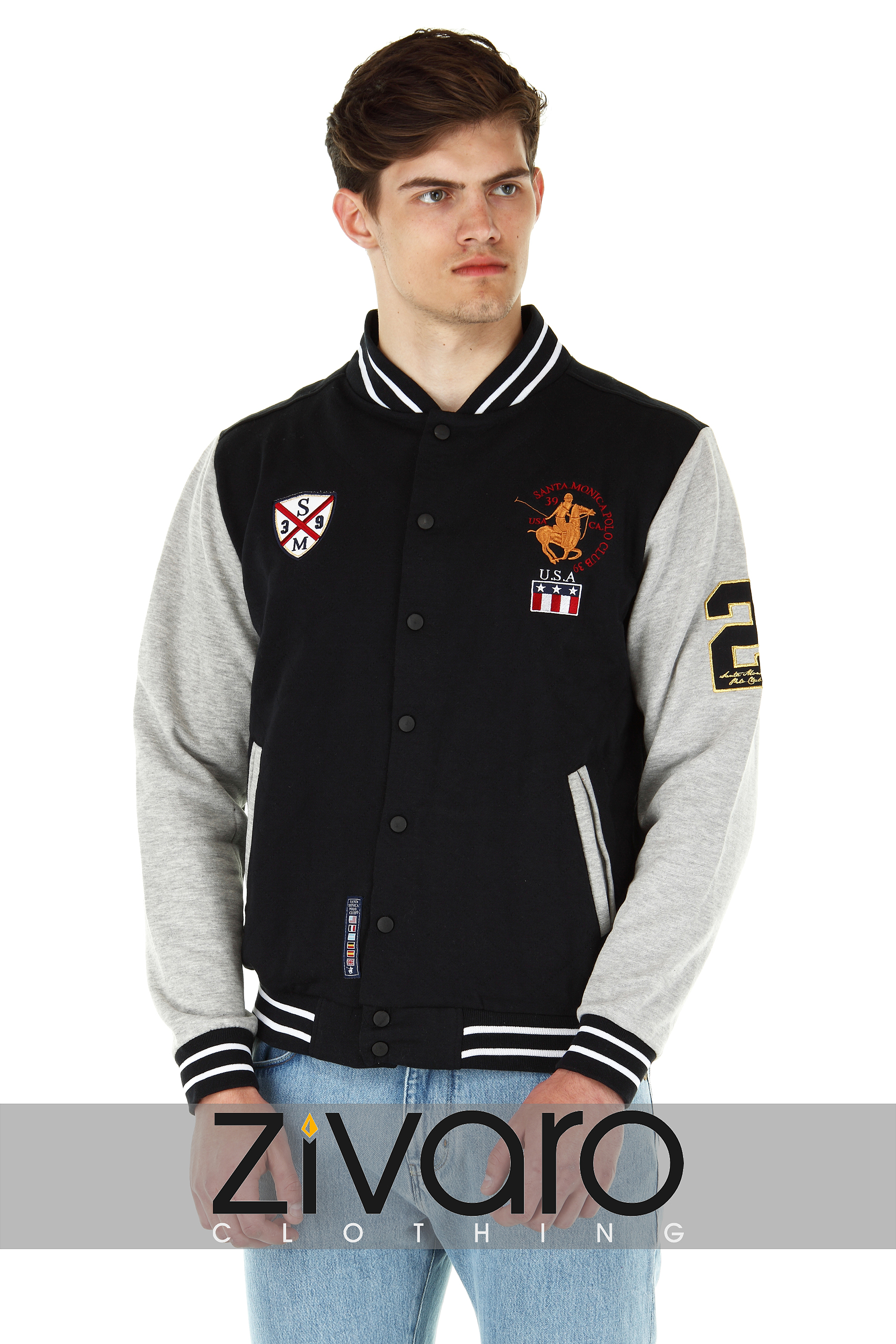 homme varsity veste am ricain letterman baseball style par consensus ebay. Black Bedroom Furniture Sets. Home Design Ideas