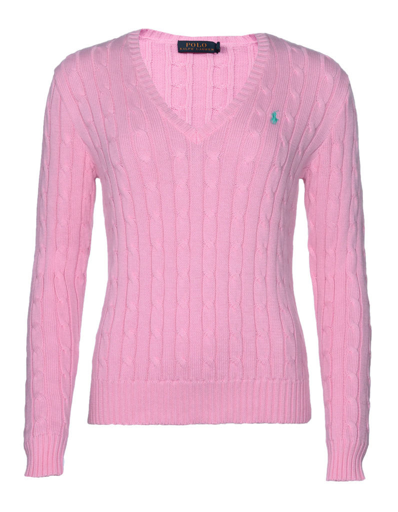 Ralph Lauren Women's Polo Cable Knit V-Neck Jumper Cardigan ...