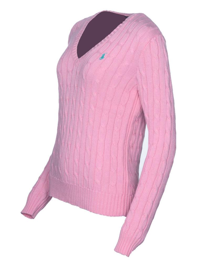 db1db2b3021cd Ralph Lauren Women s Polo Cable Knit V-Neck Jumper Cardigan Sweater ...