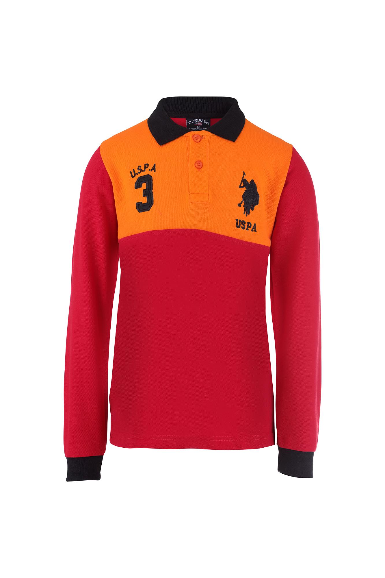 Kids boys girls polo shirt by u s polo assn multi coloured for Long sleeved polo shirts for boys