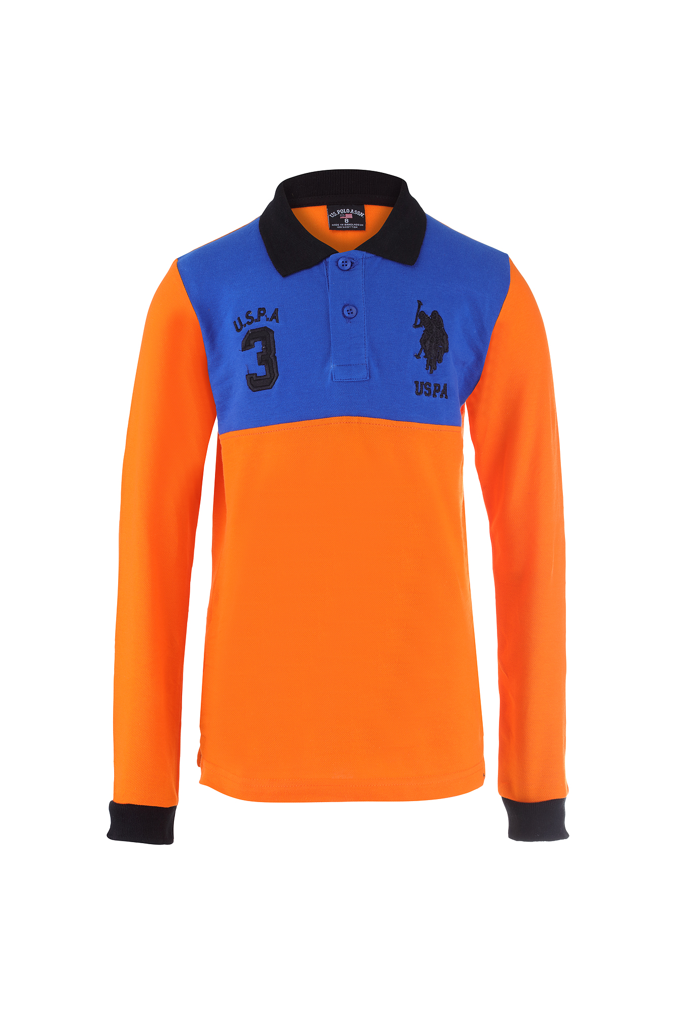 Kids boys girls polo shirt by u s polo assn multi for Long sleeved polo shirts for boys