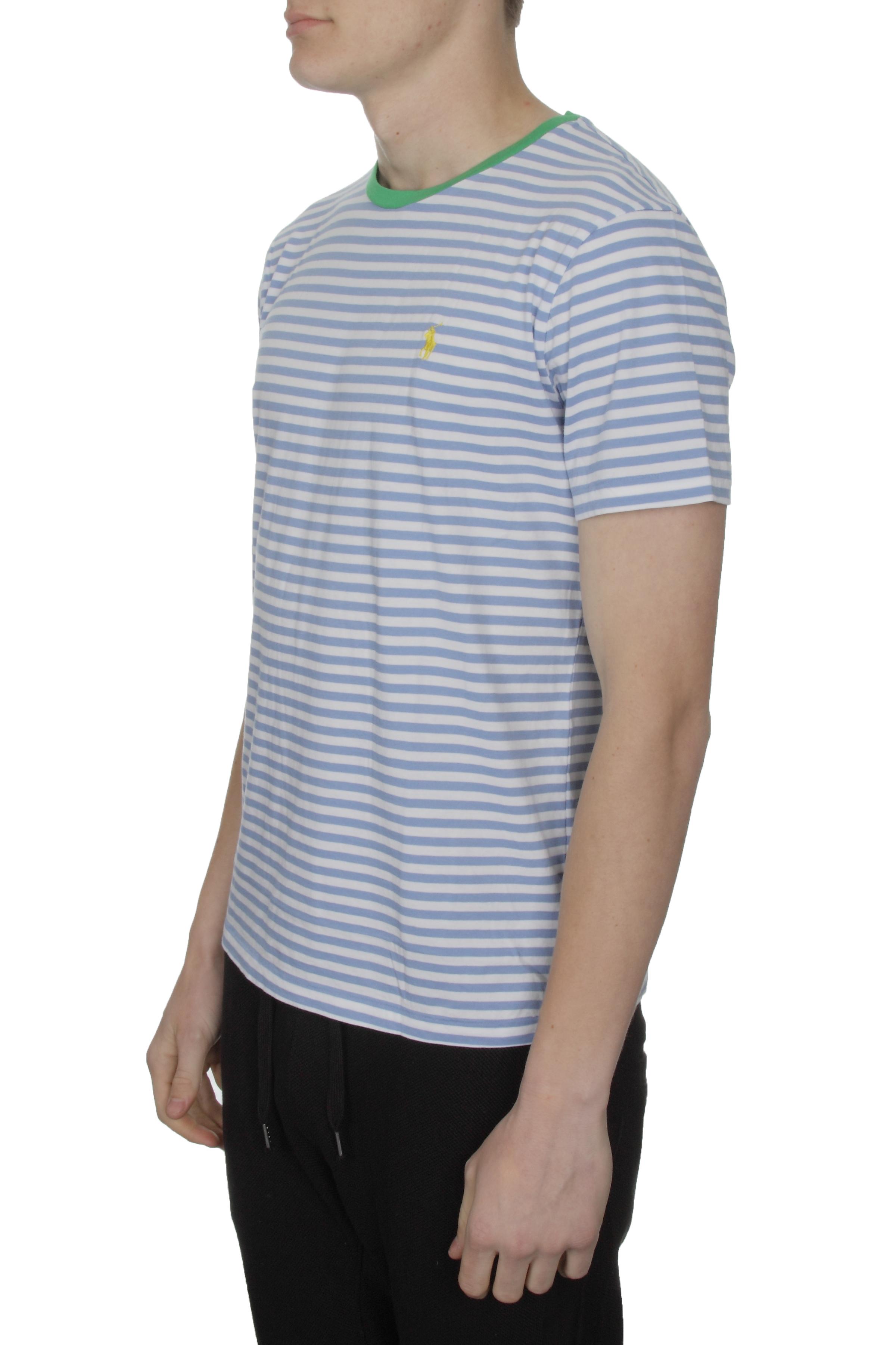 Polo Ralph Lauren Mens Striped T Shirt Regular Fit With