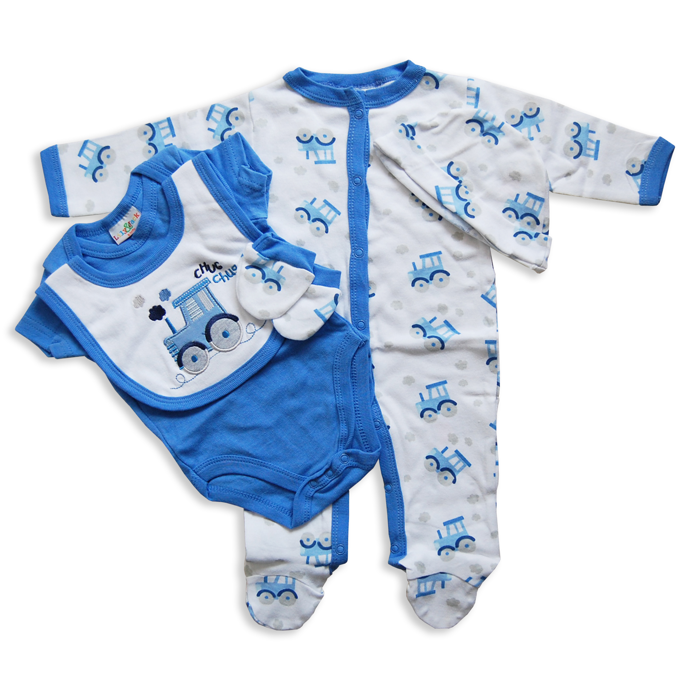 5 Piece Baby Boys Girls Layette Clothing Gift Set Box by