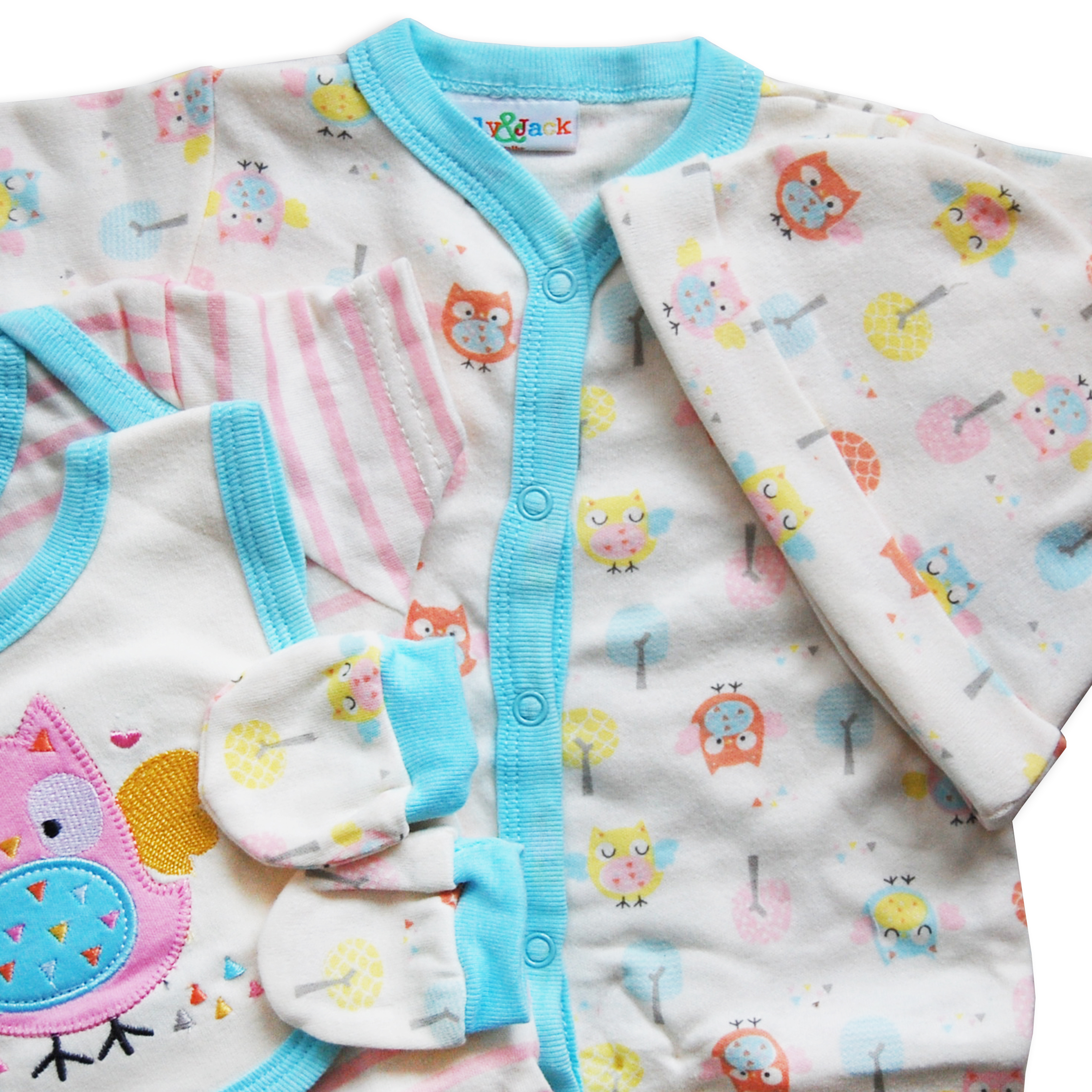 5 piece baby boys girls layette clothing gift set box by lily jack nb 0 3 3 6 ebay. Black Bedroom Furniture Sets. Home Design Ideas
