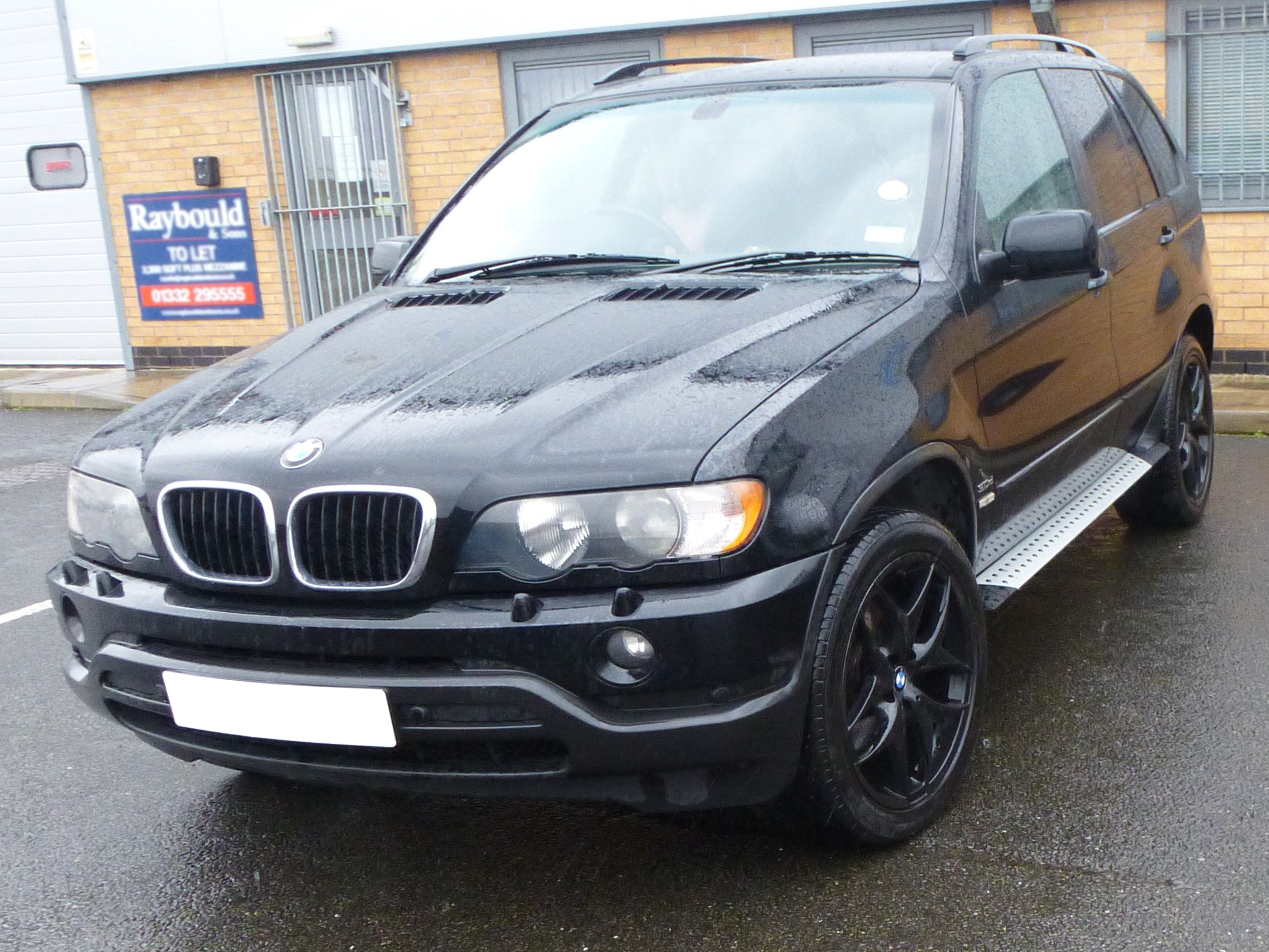 bmw x5 e53 00 06 brushed aluminium side steps bars running. Black Bedroom Furniture Sets. Home Design Ideas