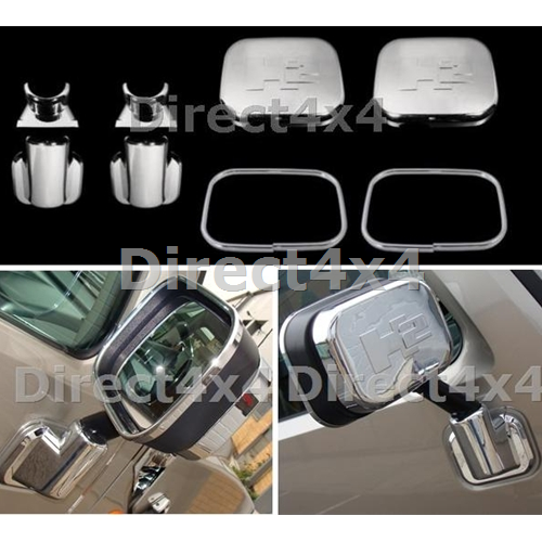 Hummer H2 02 06 Chrome Door Wing Mirror Protecting Covers